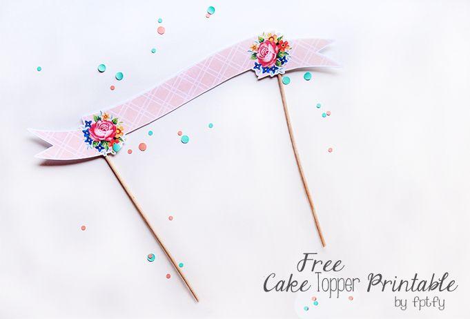 Cake Decoration Printable : Free Cake Topper Printable Printables Pinterest