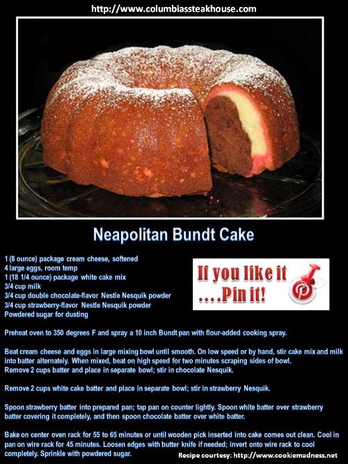 Christmas Recipie 2012 Lexington Ky: Amazing Neapolitan Bundt Cake