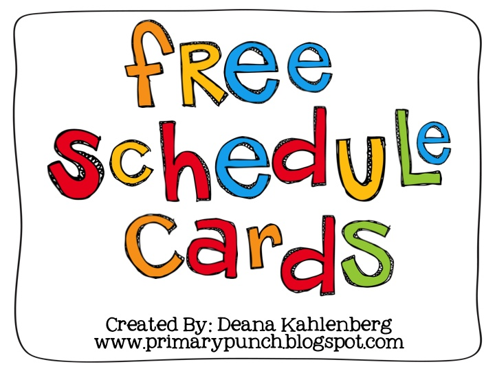 Best 25+ Free schedule cards ideas on Pinterest | Classroom ...