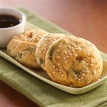 Asian Scallion Buns with Sweet and Sour Sauce