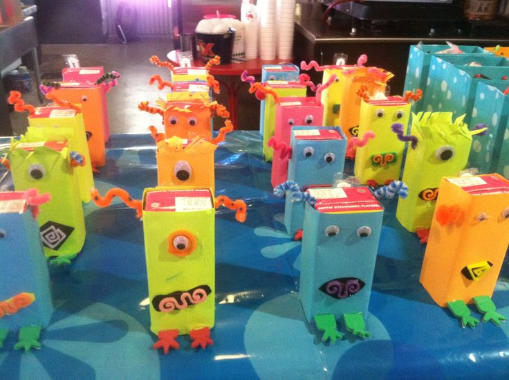 Monster juice boxes | My personal DIY | Pinterest