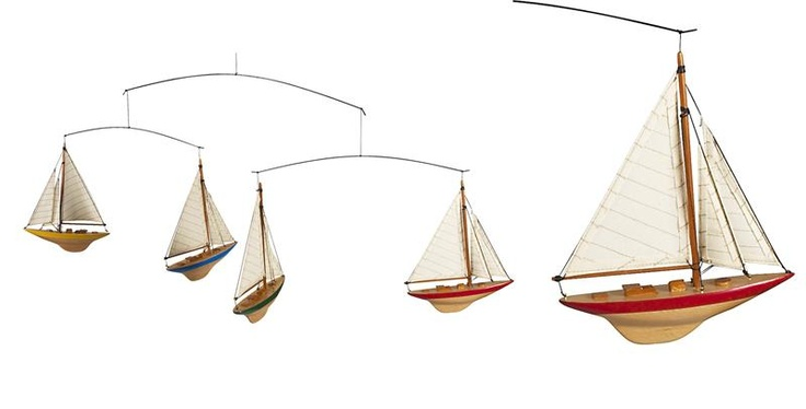 sailboat mobile nautical nursery ideas pinterest