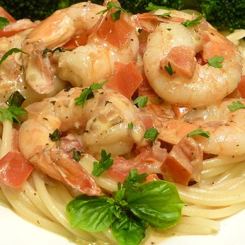 Angel Hair With Shrimp And Tomato Sauce Recipes — Dishmaps