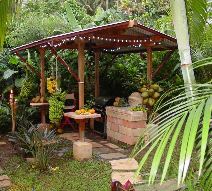 Rustic outdoor kitchen yard and garden pinterest for Outdoor garden kitchen designs