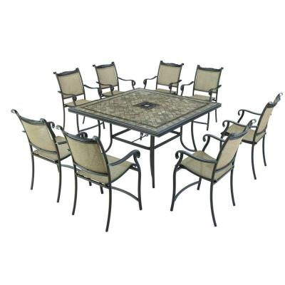 Westbury 9 piece patio high dining set