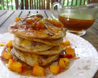 Peach cobbler pancakes | Recipes to Try | Pinterest