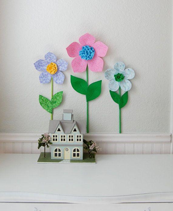 3d flower wall decal girls room decor 3d wall art decor for 3d flowers for wall decoration