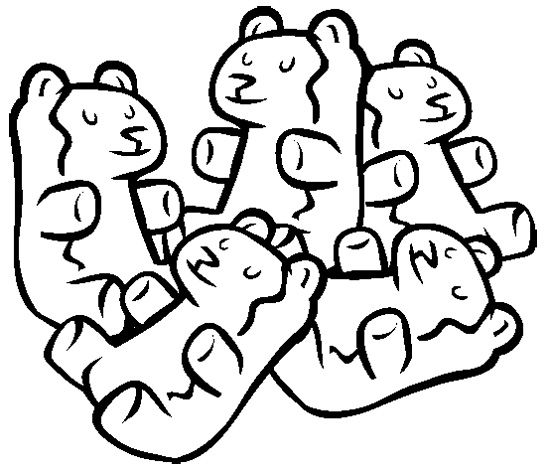 Gummy bear coloring pages for Coloring pages of gummy bears