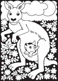 K Is For Kangaroo Coloring Page Coloring Pages