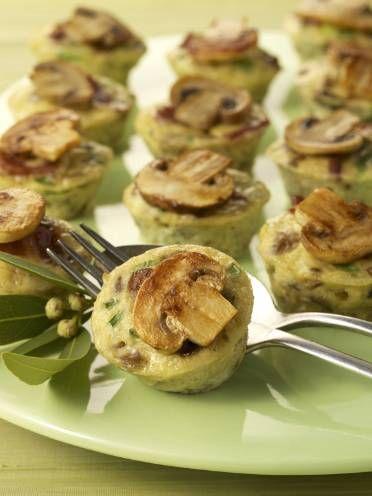 Mini Mushroom Quiche | Recepies | Pinterest