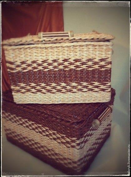 Плетёный короб для белья