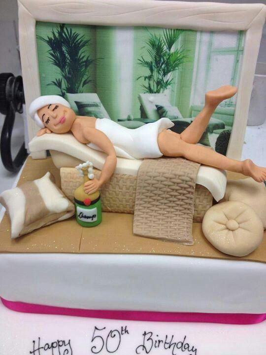 Birthday Cake Images And Massage : Spa cake Let Them Eat Cake Pinterest