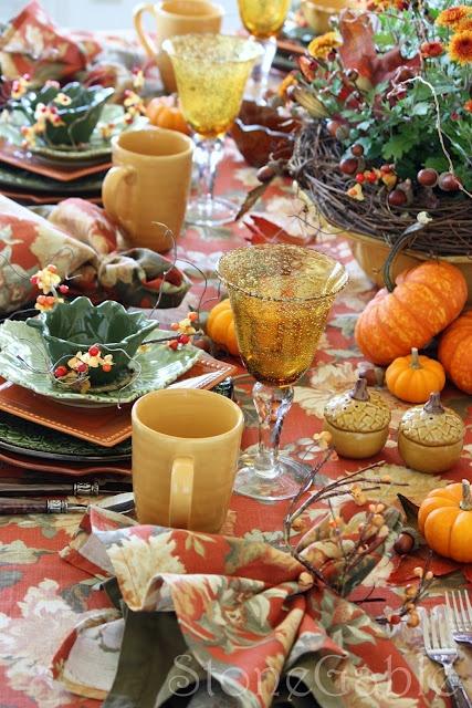 Fall Tablescape Fall Thanksgiving Pinterest