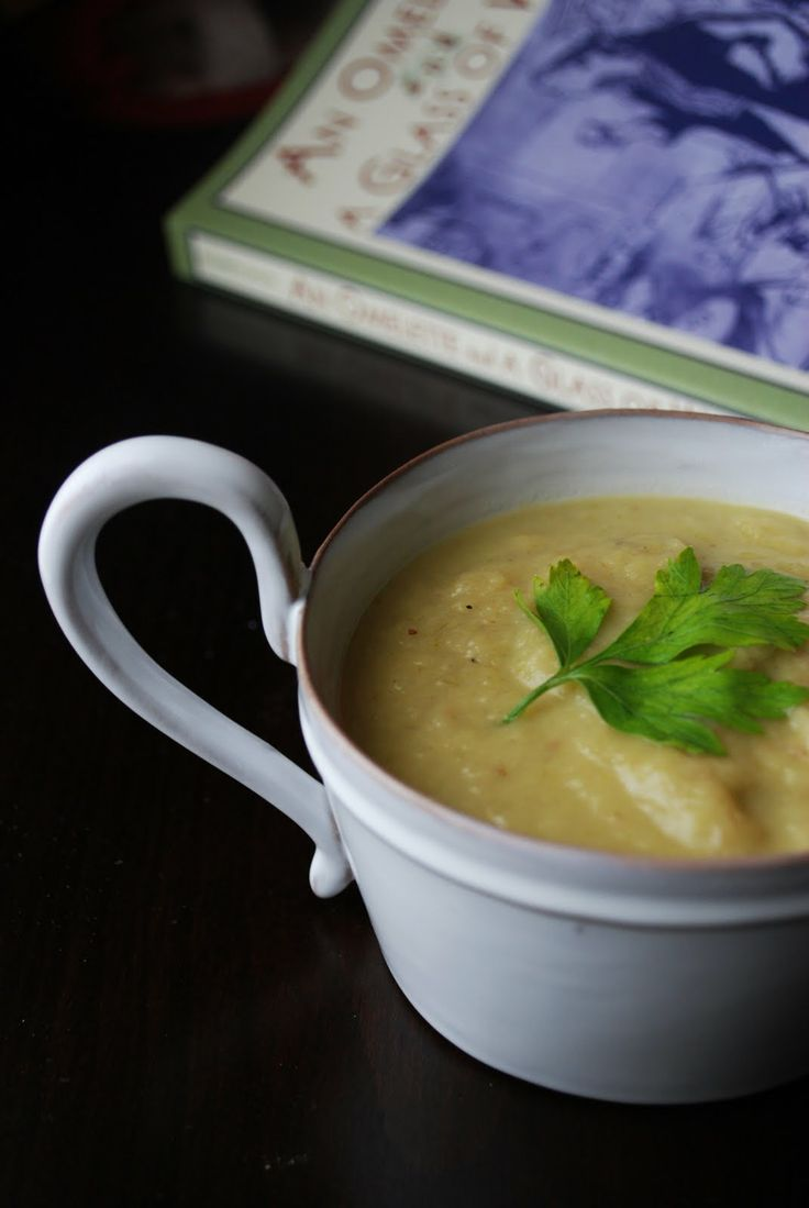 potage parmentier (potato & leek soup) with bacon. [adapted from a ...