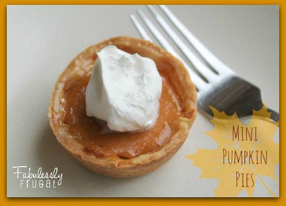 Mini Pumpkin Pies Main | Pies | Pinterest
