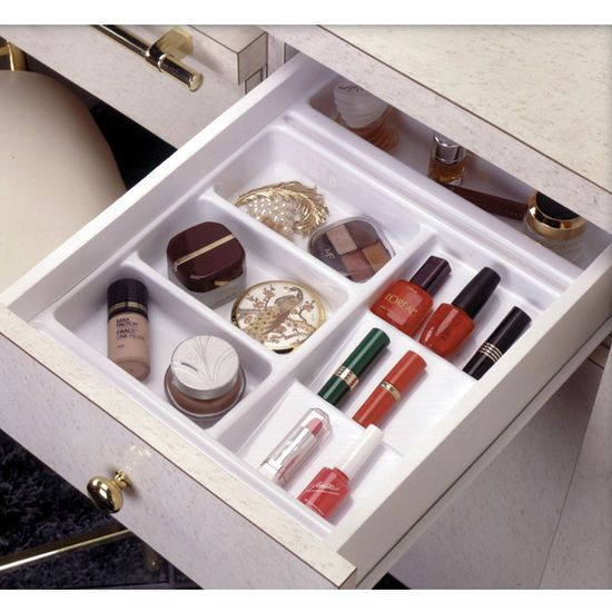 Rev a shelf vanity cosmetic drawer organizer base trays for Bathroom tray organizer
