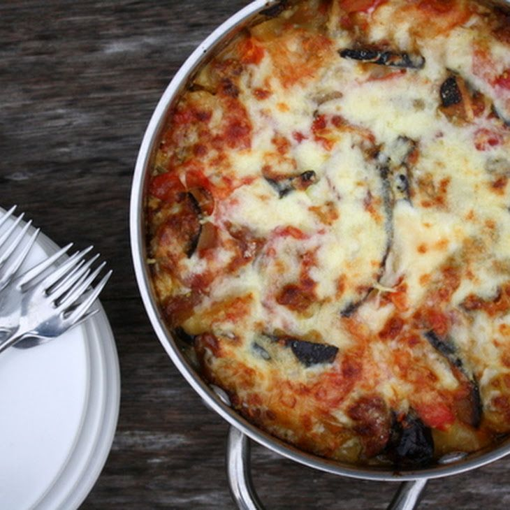 Eggplant-Zucchini Lasagna with Fontina Recipe