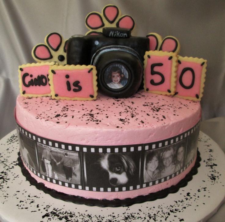 Birthday Cake Photo Camera : A camera birthday cake. Adult Birthday Cakes Pinterest