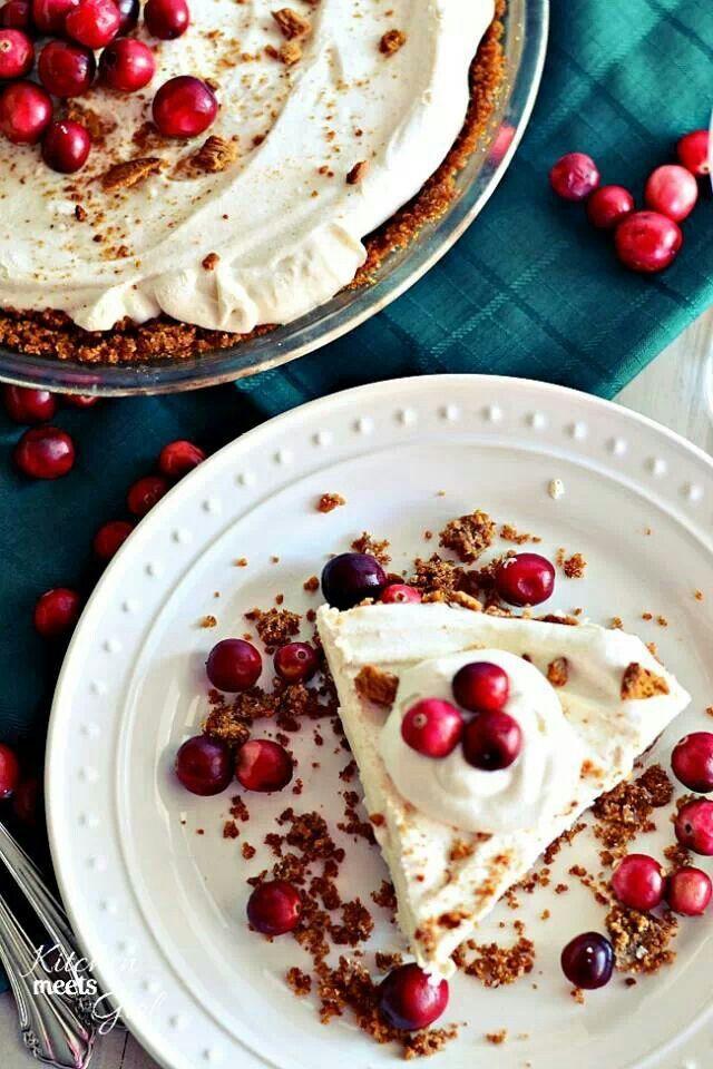 Eggnog pie with gingersnap crust | Desserts & Goodies | Pinterest
