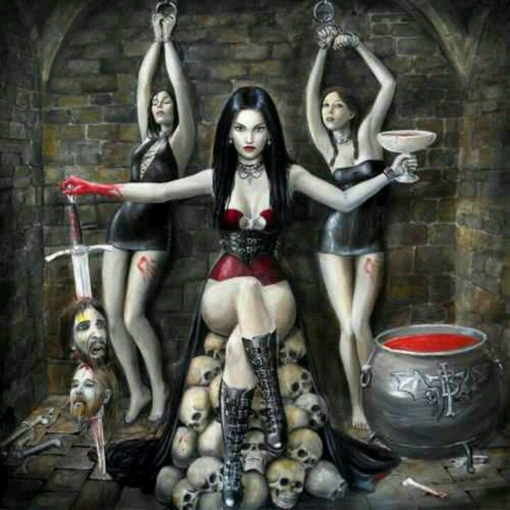 Sexy female vampire fantasy art