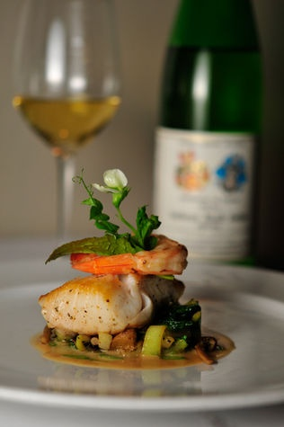 Alaskan Black Cod, GIngered Gulf Prawns, and Sherry Soy Emulsion ...