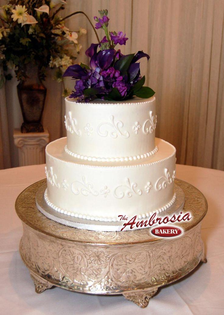 2 Tier Buttercream Simple Scroll Cake Wedding Ideas