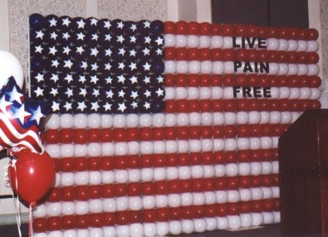 american flag wall mural balloon decor pinterest