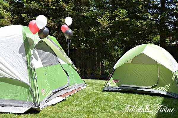 Backyard Camping Tips : Tidbits Twine Backyard Campout1 Backyard Campout Birthday Party