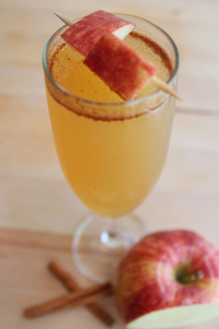 Apple cider champagne punch | Adult Beverages | Pinterest