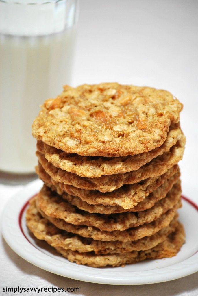 Oatmeal Butterscotch Cookies | Recipe