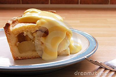 Apple pie and custard!!! | Pies | Pinterest