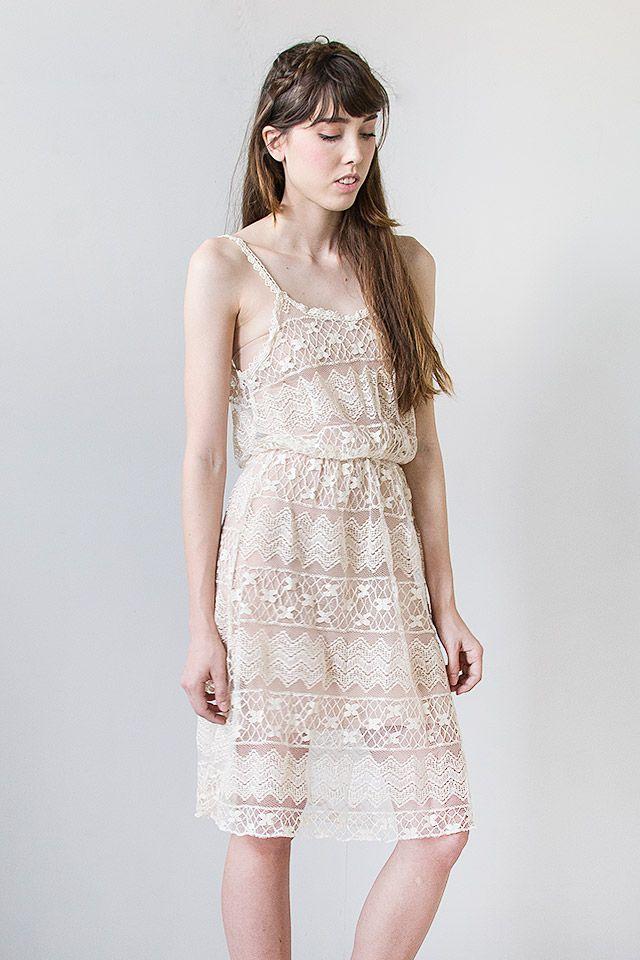 Vintage Inspired Sheer Lace Sundress La Mode Pinterest