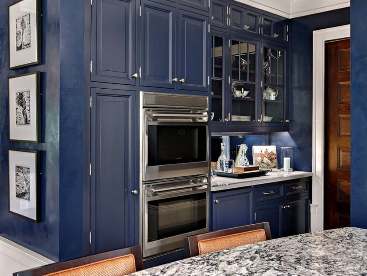 navy kitchen kitchens pinterest