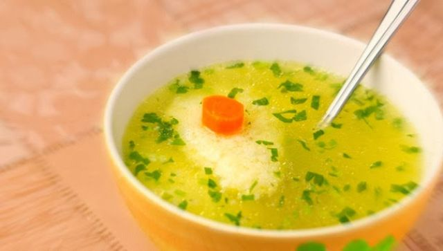 Chicken Soup with Semolina Dumplings | Udepuh | Pinterest
