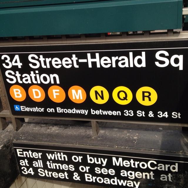 Herald Square subway entrance sign