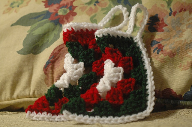 Ravelry: Granny Square Stocking Ornament pattern by Maggie Morris