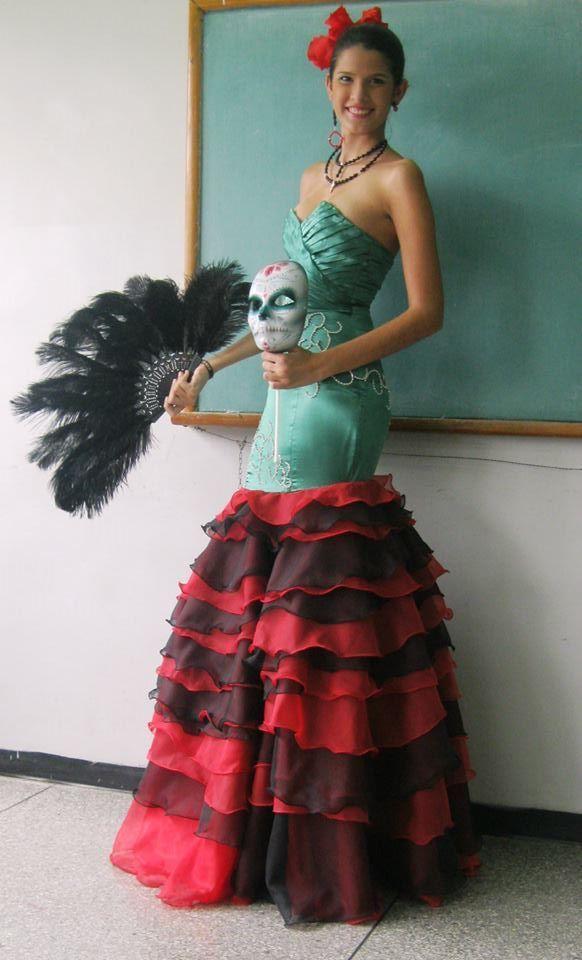 Vestido De Gala Para Coleccion Grado Inspirado En La Catrina Mis Disenos Pinterest