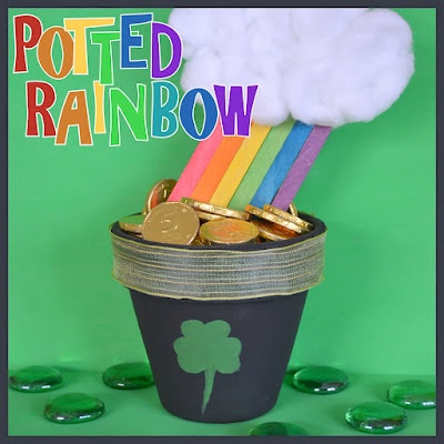 Potted Rainbow - A St. Patrick's Day Craft
