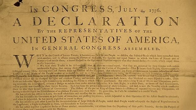 9. the declaration of independence crossword puzzle answers