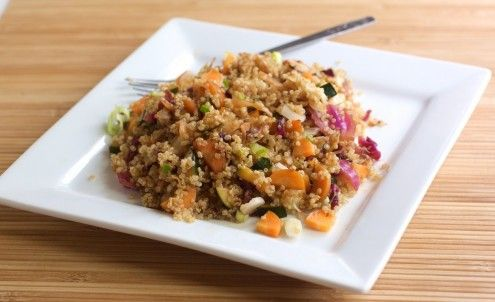 Quinoa and Cabbage Salad: potsticker ingredients thrown in with quinoa ...