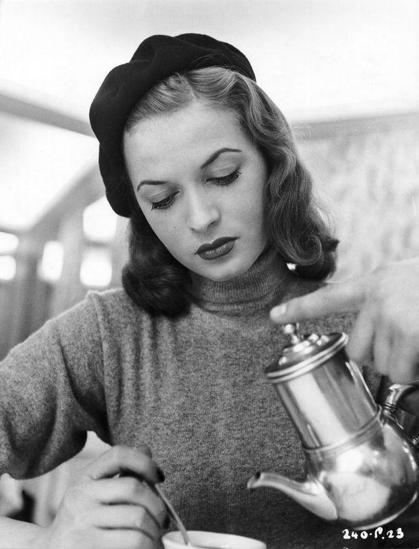 Todays 1950s hair & makeup inspiration from Eva Bartok (18 June 1927 – 1 August 1998)