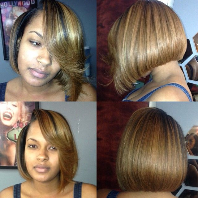 Weave Bob Hairstyles With Middle Part All About Hairstyles | LONG ...
