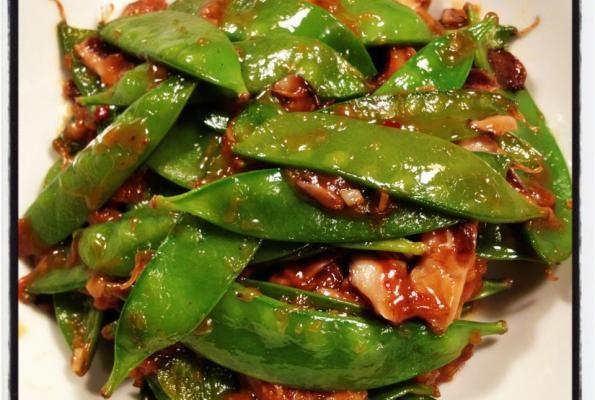 Szechuan Snow Peas w/Shiitake Mushrooms   Feeding the Family (Vegan/V ...