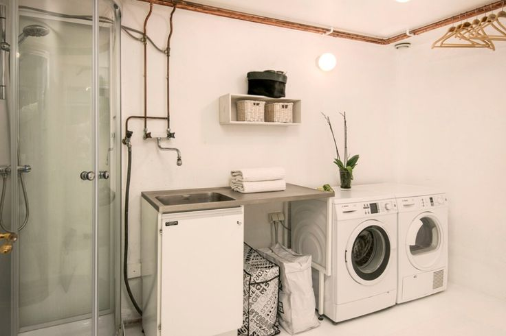 Laundry room in bathroom