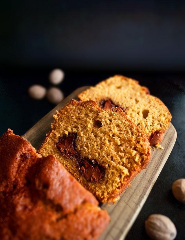 Finally, what is bread or cake? pumpkin Nutella Bread