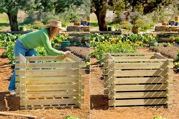 compost bin GardenLandscaping Pinterest