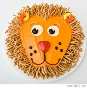 Lion Birthday Cake Design How To Make A With Chow Mein Noodl