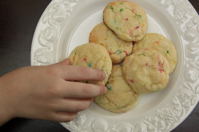 Cake mix cookies...yum, we love these!!!