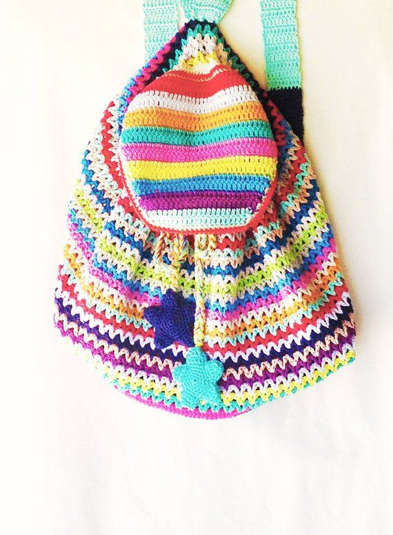 Crochet Back Bag : annemariesbreiblog backpack bloged at LuzPatterns.com back to school ...