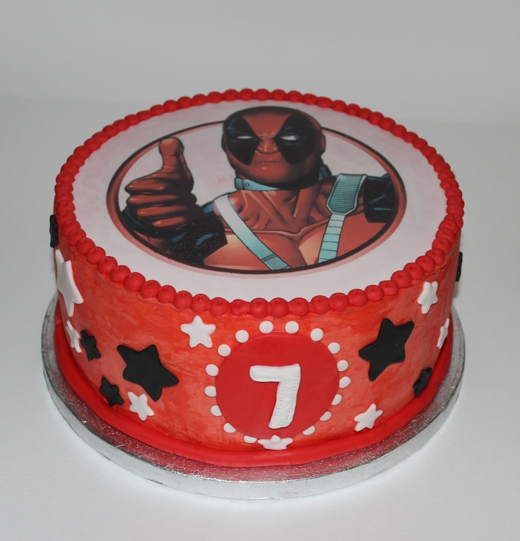 Material Para Cake Design Lisboa : #Deadpool_Cake Cakes For Kids Pinterest